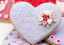 Valentine cookies Stock Images