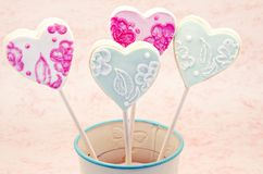 Valentine cookies Royalty Free Stock Image