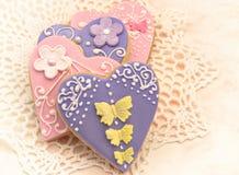 Valentine cookies Stock Images
