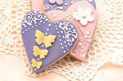 Valentine cookies Royalty Free Stock Images