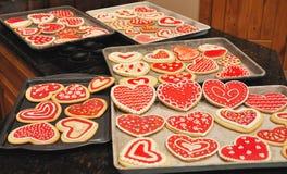 Valentine Cookies Stockfoto