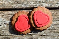 Valentine Cookies Images libres de droits