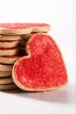 Valentine cookies with a big heart Royalty Free Stock Image