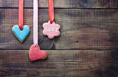 Valentine cookies decorated Stock Photography