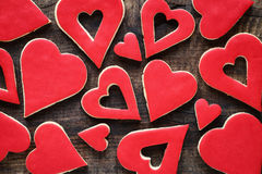 Valentine cookies Royalty Free Stock Photos