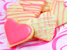 Valentine cookies in the shape of heart Stock Photos