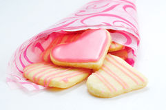 Valentine cookies in the shape of heart stock photo