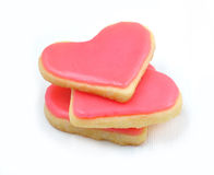 Valentine cookies in the shape of heart Royalty Free Stock Photography