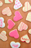 Valentine cookies in the shape of heart Royalty Free Stock Photos