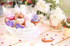 Valentine Cookies. Sweet Red Heart Valentine Cookie Stock Photos