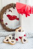 Valentine cookies Stock Photography