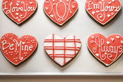Valentine Cookies on Tray Stock Photography
