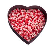 Valentine corn candy Royalty Free Stock Images