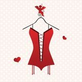 Valentine corset Stock Photography