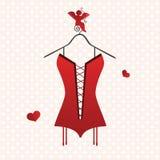 Valentine corset Stock Photography