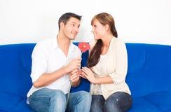 Valentine couple Stock Photos