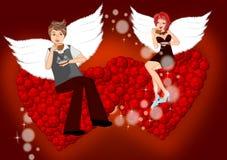 Valentine couple stock illustration