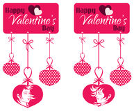 Valentine Couple Hanging Tag Stock Photography