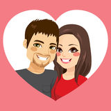 Valentine Couple Heart Frame Lizenzfreies Stockbild
