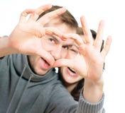 Valentine Couple. Isolated on white background Royalty Free Stock Photos