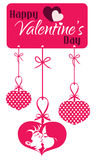 Valentine Couple Kissing Hanging Tag Stock Photography