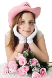 Valentine Cowgirl Royalty Free Stock Photo
