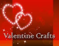 Valentine Crafts Represents Valentines Day en Art. royalty-vrije illustratie