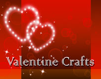 Valentine Crafts Represents Valentines Day et art Photos libres de droits