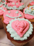Valentine - Cup Cakes Royalty Free Stock Images