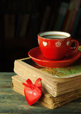 Valentine cup coffee Royalty Free Stock Image