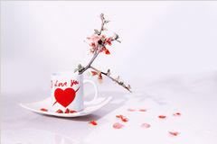 Valentine cup Royalty Free Stock Photography