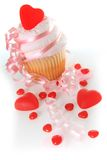 Valentine cupcake Stock Images