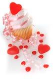 Valentine cupcake Stock Images
