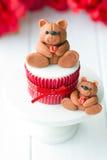 Valentine cupcake Royalty Free Stock Image