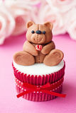 Valentine cupcake Royalty Free Stock Photos