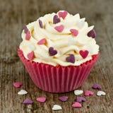 Valentine cupcake Royalty-vrije Stock Afbeeldingen