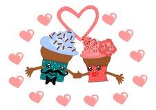 Valentine Cupcake Royaltyfri Bild