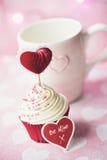 Valentine Cupcake Photographie stock libre de droits