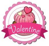 Valentine Cupcake stock de ilustración