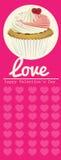 Valentine Cupcake ilustración del vector