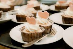 Valentine Cupcake Foto de Stock Royalty Free