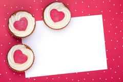 Valentine cupcake background Stock Images