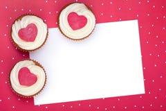 Valentine cupcake background Stock Images