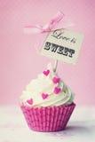 Valentine cupcake Stock Photo