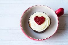 Valentine cupcake Royalty Free Stock Photography
