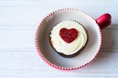 Valentine cupcake Royalty Free Stock Photography