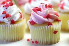 Valentine Cupcakes stock fotografie
