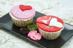 Valentine cupcakes Stock Photo
