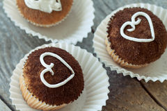 Valentine cupcakes Royalty Free Stock Images