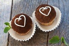 Valentine cupcakes Royalty Free Stock Photo
